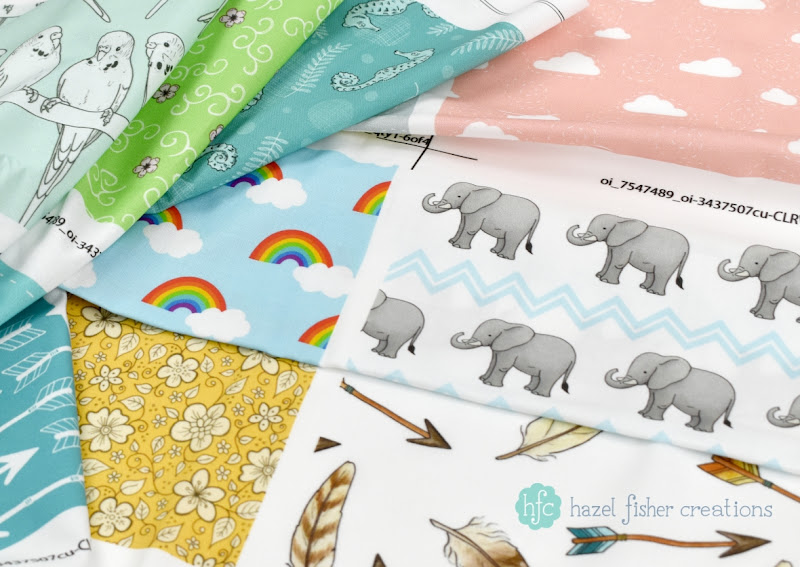 Spoonflower fabric designs, Hazel Fisher Creations