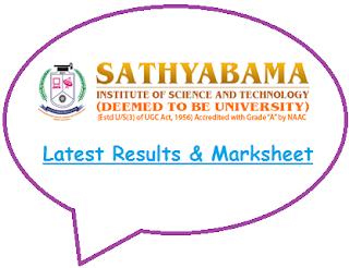 Sathyabama University Results May June 2020