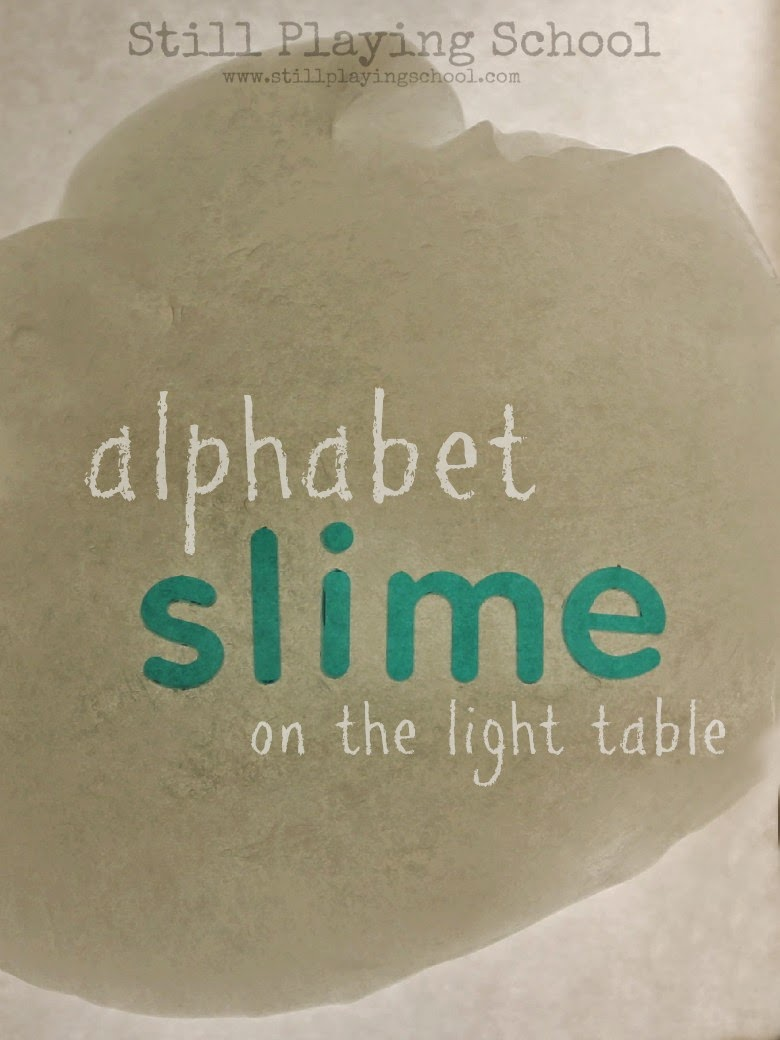 Alphabet Slime Light Table