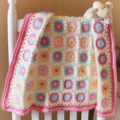 Baby Sunburst Baby Blanket - Free Pattern