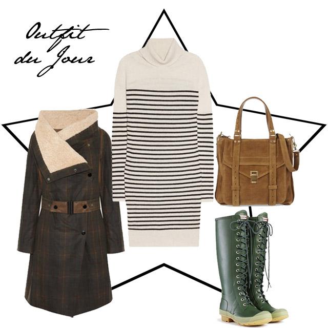 Outfit du Jour Hunter Wellies