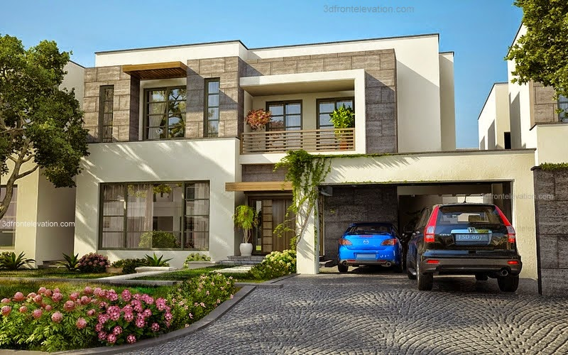 3d front modern house plans house designs - Beautiful front designs of homes ...