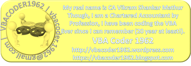 The VBACoder1962 Wordpress Blog