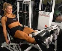 Rutina mujeres gym extensión cuadríceps