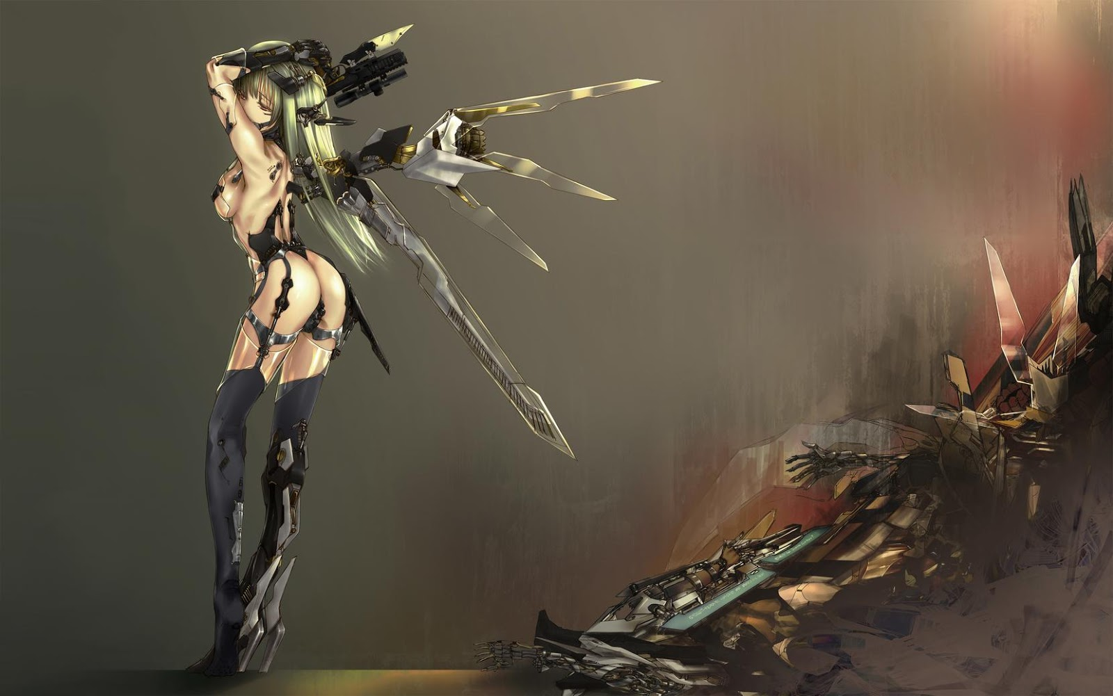 Anime Girl With Weapon Wallpapers
