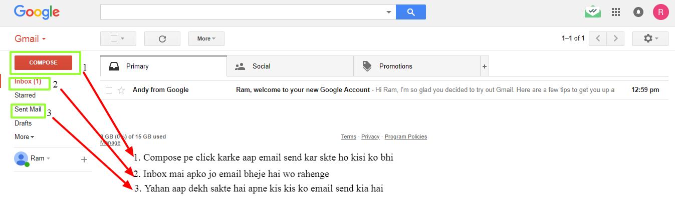 Gmail Structure hindi