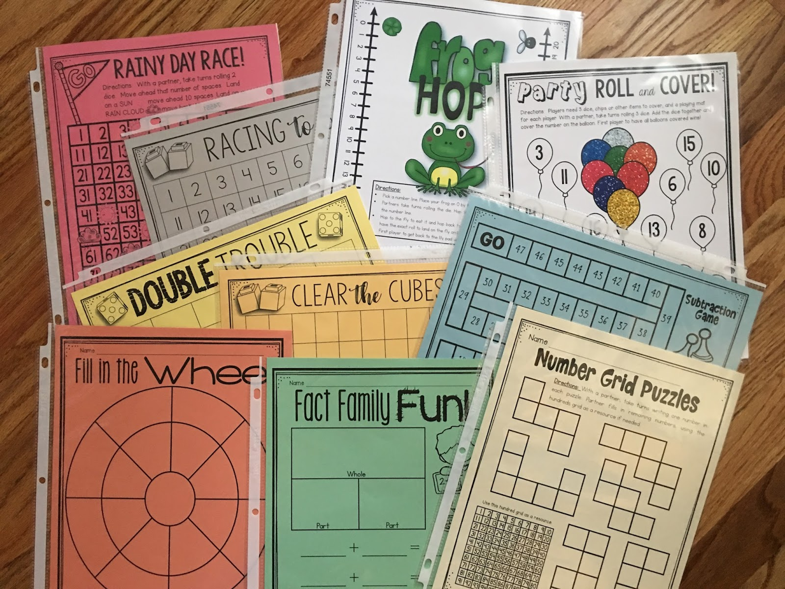Best Print and Play Math Games for K-2! | 1st Grade Pandamania