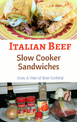 Fantastic Sandwich recipe! You can feed up to 12 people with this simple and easy crockpot slow cooker recipe. Toast hoagie buns, top with provolone and you've got the best tailgate party, ever!