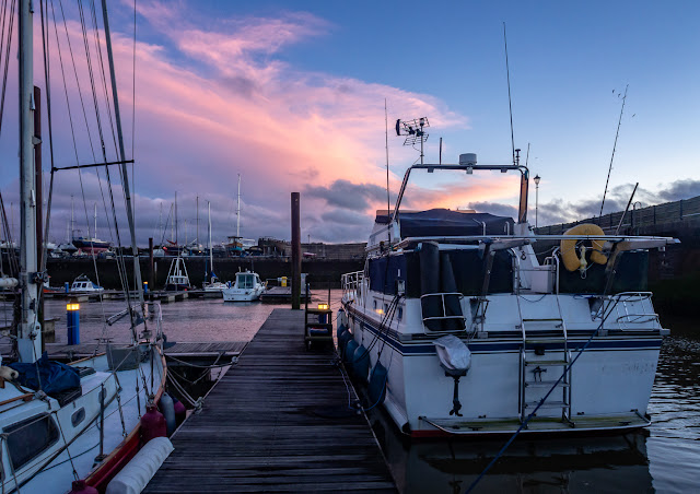 Photo of Ravensdale at Maryport Marina in Cumbria, UK, at sunset on Saturday