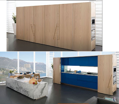 freestanding modern hidden kitchens in cupboards
