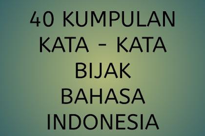 40 Kumpulan Kata-Kata Bijak Bahasa Indonesia