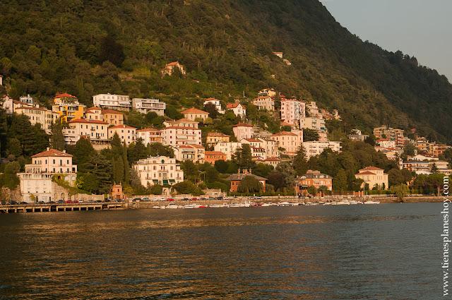 Lago di Como atardecer viaje Italia