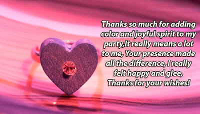 Birthday Thank You Message