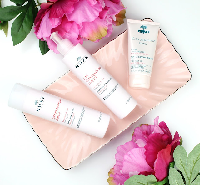 Nuxe Rose Petal Cleansing range review dry skin skincare