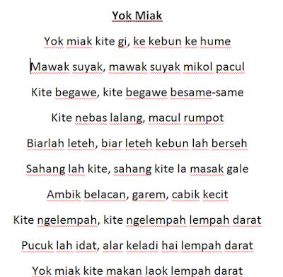 Lirik Lagu Yok Miak Lagu Daerah Bangka Belitung