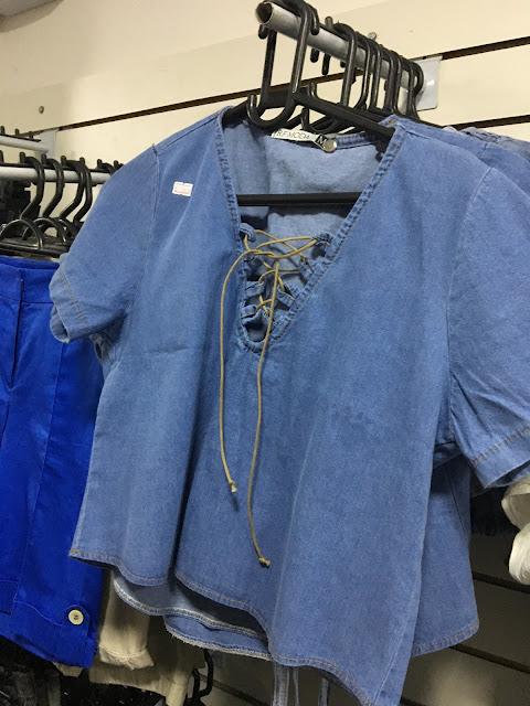 achadinhos camisa jeans