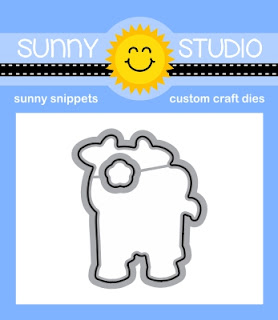 Sunny Studio Stamps: Introducing Miss Moo Coordinating Cow Cutting Dies