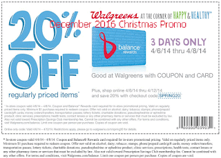 Walgreens coupons for december 2016