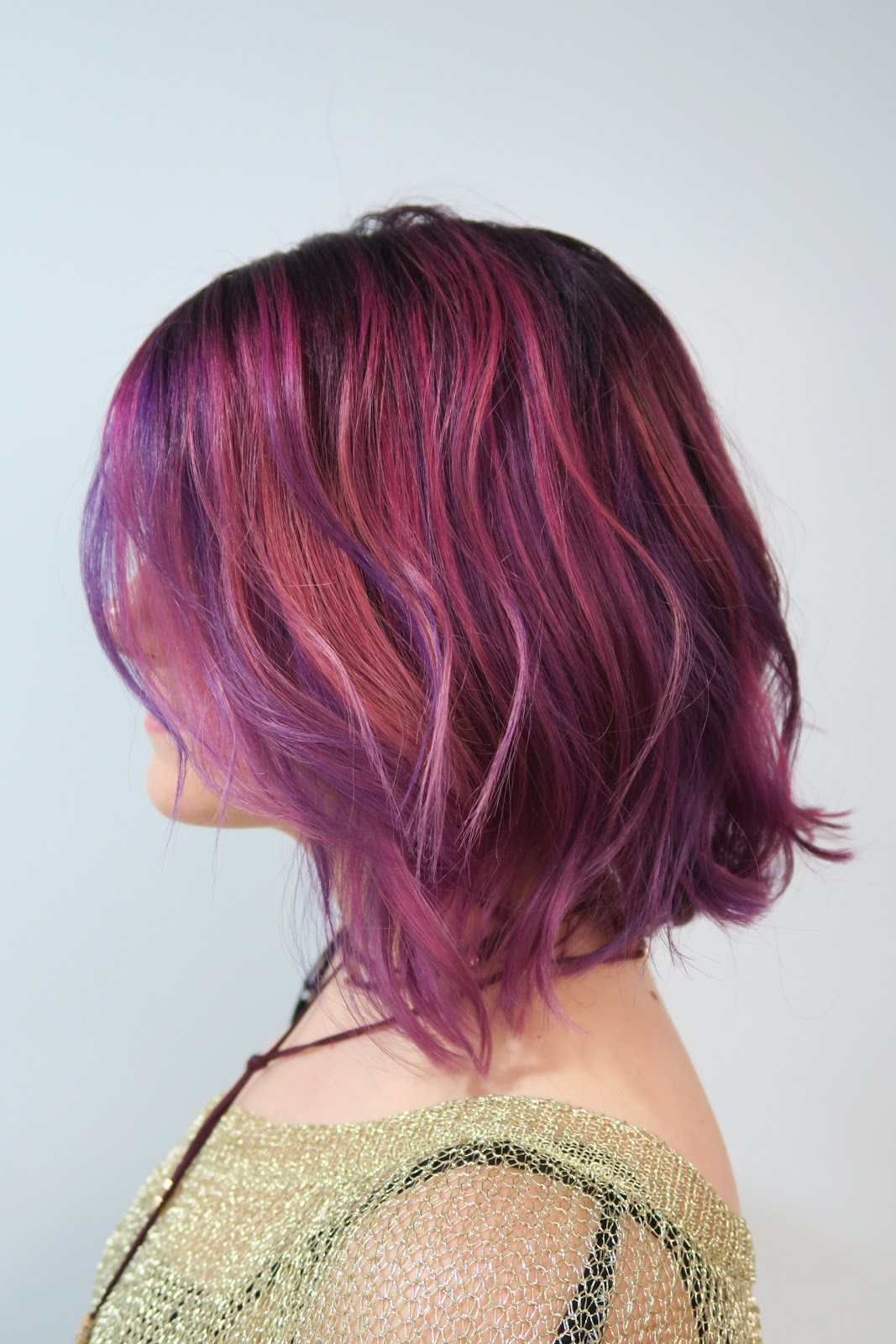 dye hair purple from red