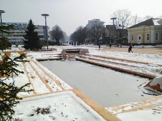 Frozen, Fountain, Pool, Yambol, Yambol City Centre
