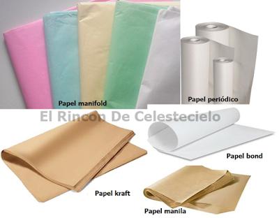 Tipos de papel para trazar patrones o moldes