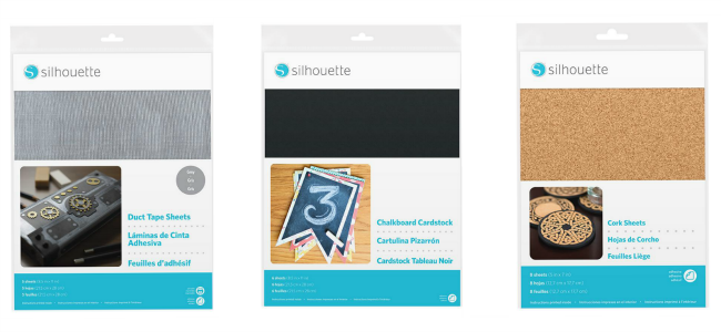 new silhouette products, silhouette cut cork, silhouette chalkboard, silhouette duct tape