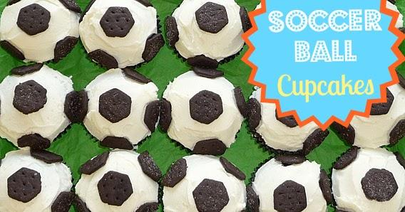 cupcake cake soccer