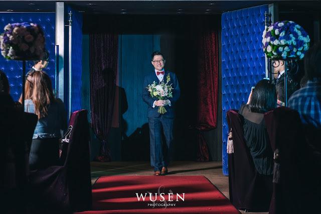 台北婚攝君品酒店進場燈光婚宴拍攝