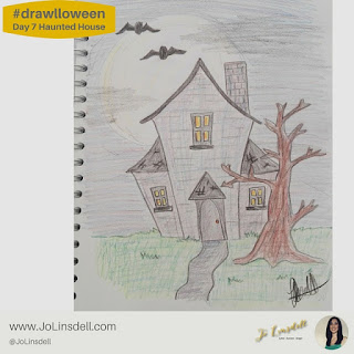 #Drawlloween Day 7 Haunted House  #Drawing #challenge