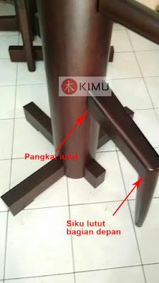 Pangkal & Siku lutut wooden dummy / mok yan jong