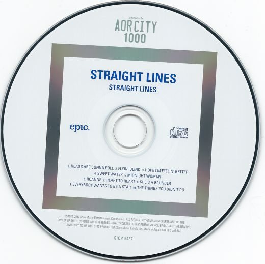 STRAIGHT LINES - Straight Lines [Remastered / AOR CITY Series 2017] disc
