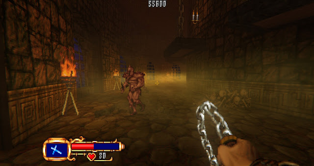 A very foggy level, with dangerous knights
