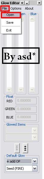 Programa glow editor
