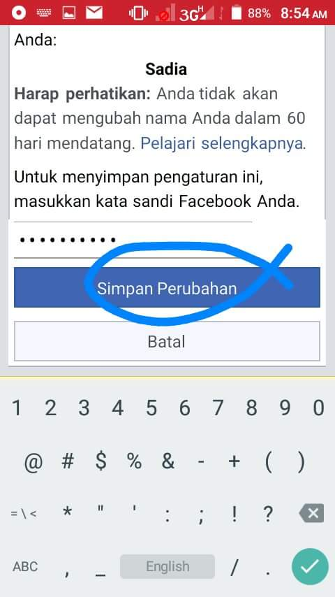 how to change to single name on facebook