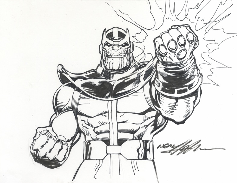 Marvel Comics of the 1980s: Thanos by Neal Adams
