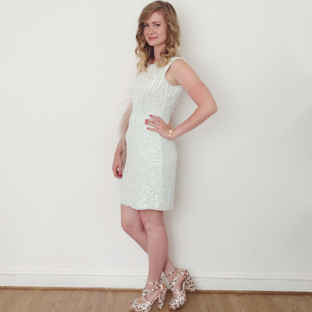 House of Fraser party dress, fashion blog