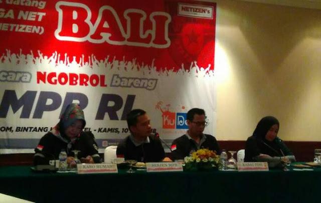 Ngobrol Bareng MPR RI Bersama Netizen Bali 2018