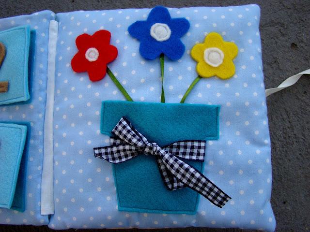 książeczka sensoryczna  kwiaty
