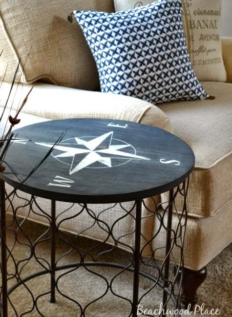 Coastal Nautical Furniture Makeovers From Wicker Chairs To Side