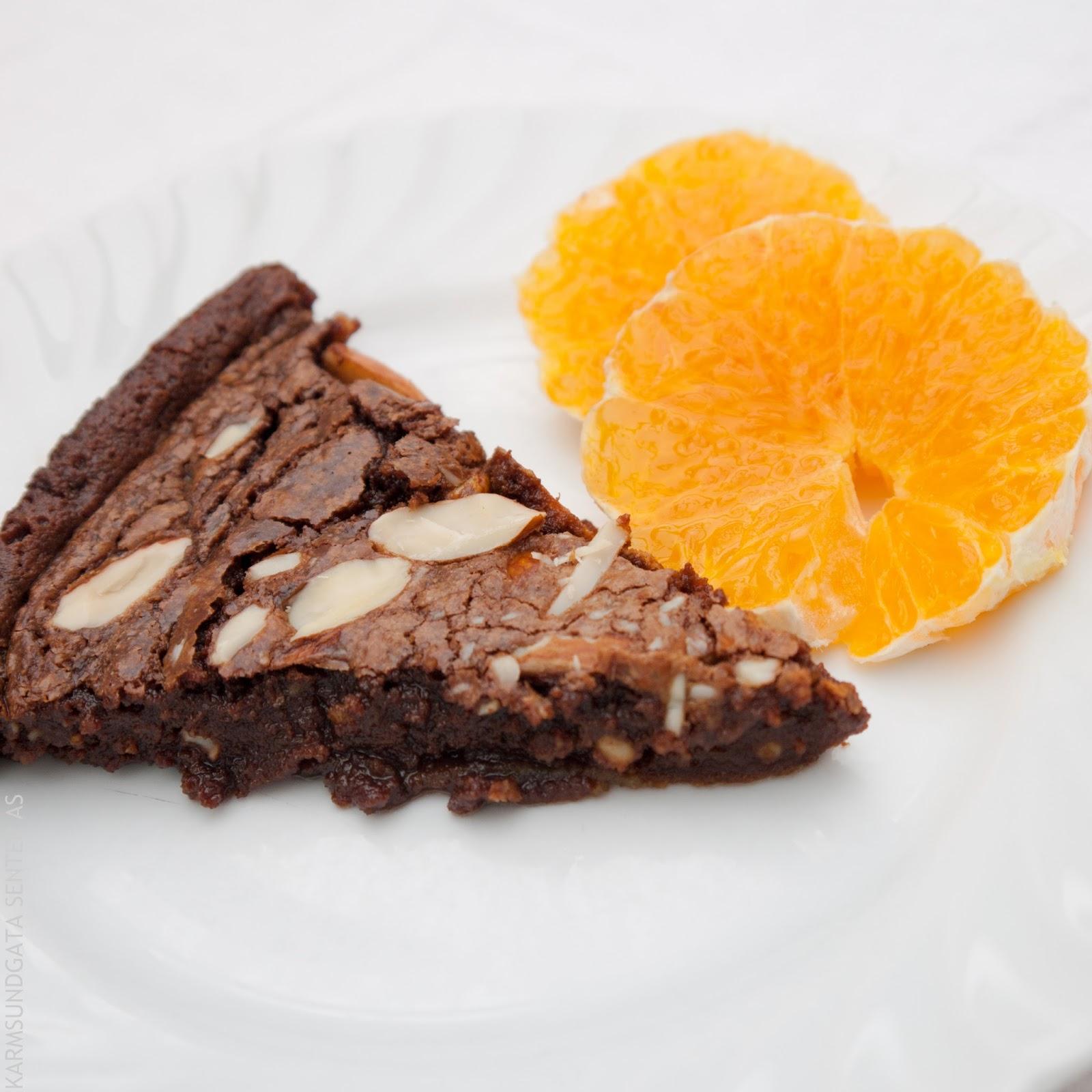Glutenfri sjokoladekake med mandler