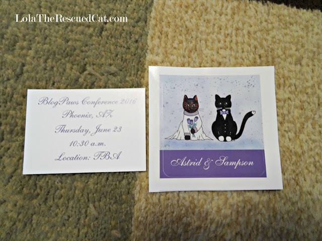 cat wedding invitation