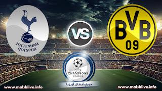 مشاهدة مباراة بوروسيا دورتموند وتوتنهام  أون لاين Borussia dortmund vs Tottenham بتاريخ 21-11-2017 دوري أبطال أوروبا