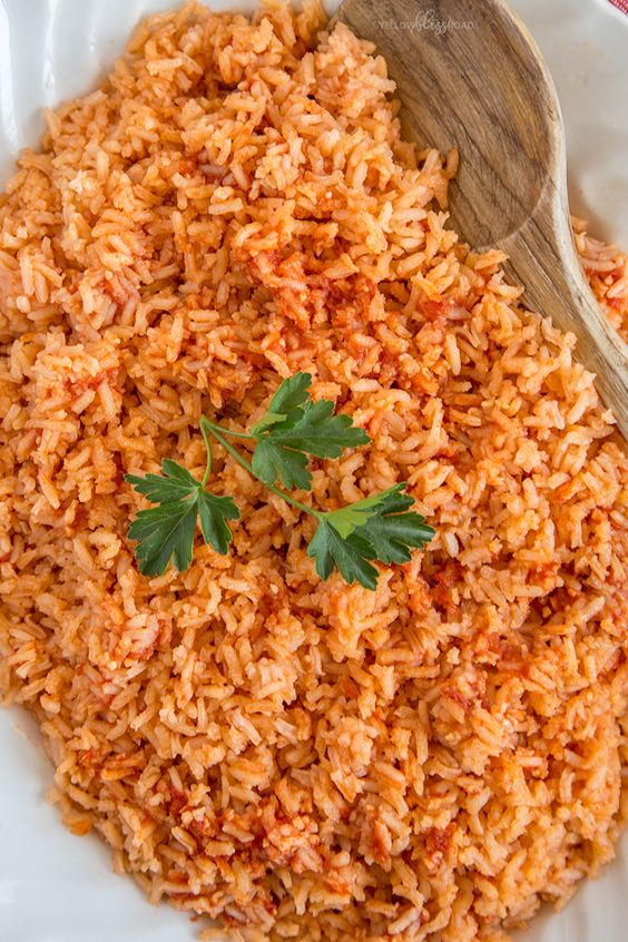 The BEST Authentic Mexican Rice that is so good and so easy, it will become THE side dish to make with all of your Mexican dishes. Perfect for Cinco de Mayo.
