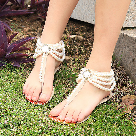 Flat Sandals For Wedding
