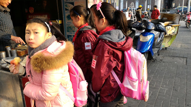 écolières à Shanghai