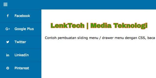 Langkah Mudah Membuat Sliding Menu Dengan CSS Dan HTML