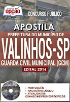 Apostila Concurso Prefeitura de Valinhos 2016 GCM