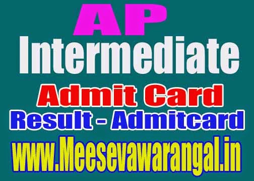 AP 12th/Intermediate Admit card Hallticket