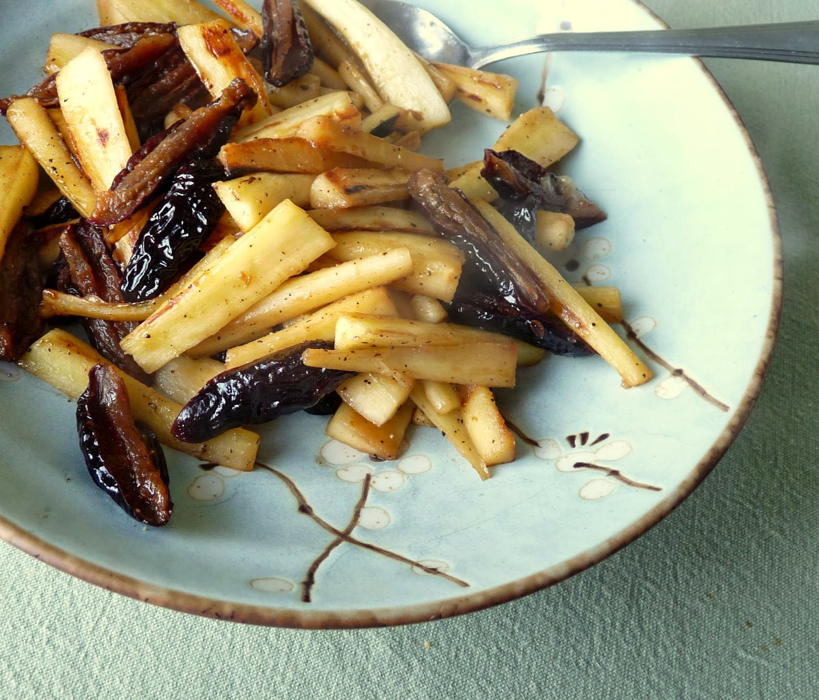 Parsnips with Prunes & Lemon