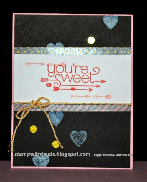 You Plus Me, stampwithtrude.blogspot.com, Trude Thoman, Stampin' Up!, Valentine, thinking of you